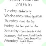 Weekly Meal Plan ( Family Of Four)